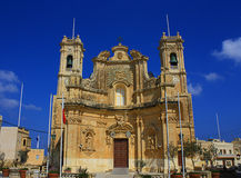 Maltese church. A Baroque church in the island of Malta Stock Photography