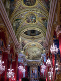 Maltese church decorated for celebration Royalty Free Stock Photography