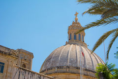 Maltese church. Dome of a Church in Valletta, Malta Royalty Free Stock Images