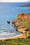 Maltese cliffs in the sea. Cliffs in the sea, Malta Royalty Free Stock Photo
