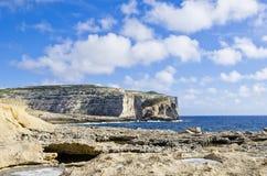 Maltese coastline. The Dwejra cliffs - Maltese coastline Royalty Free Stock Photos