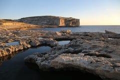Maltese coastline and Mediterranean sea. Cliffs and Mediterranean sea in Malta Royalty Free Stock Images