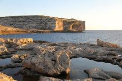 Maltese coastline and Mediterranean sea. Cliffs and Mediterranean sea in Malta Stock Photography