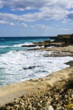 Maltese Coastline, Ricasoli, Malta Royalty Free Stock Photography