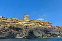 Maltese coastline. Ta Xutu Tower, known as it Torri ta Xutu, 17th century coastal watchtower - Wied Iz-Zurrieq, Malta Stock Image