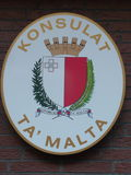 Maltese Consulate Sign (Malta). Sign and seal of the maltese consulate Stock Images