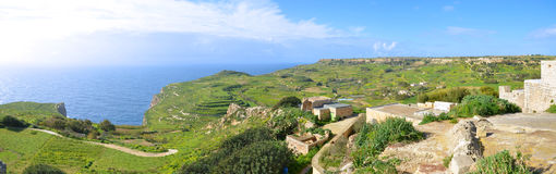 Maltese countryside. Panorama of the maltese countryside in the limits of Mtahleb Stock Photo