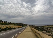 Maltese countryside landscape on the south of Malta, Mediterranean royalty free stock photography