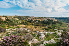 Maltese Countryside in the limits of Imtahleb. Spring landscape in the Maltese Countryside in the limits of Imtahleb Royalty Free Stock Photo