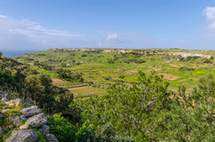 Maltese countryside. The maltese countryside in the limits of Mtahleb Royalty Free Stock Image