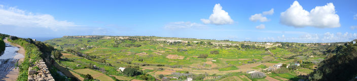 Maltese countryside. Panorama of the maltese countryside in the limits of Mtahleb Royalty Free Stock Images