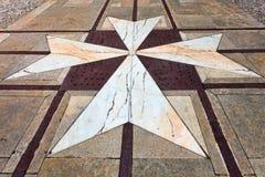 Maltese croos in the Yard of Palazzo Vilhena Stock Photos
