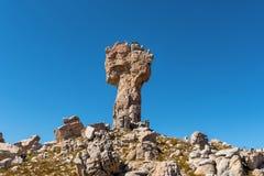 Maltese Cross on the Bokveldskloof hiking trail near Dwarsrivier. The Maltese Cross on the Bokveldskloof hiking trail near Dwarsrivier in the Cederberg Mountains stock photos