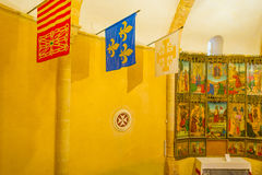 Maltese Cross church in Segovia. In Spain Royalty Free Stock Image