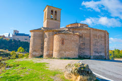 Maltese Cross church in Segovia. In sunlight Stock Image