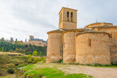 Maltese Cross church in Segovia. In sunlight Royalty Free Stock Images