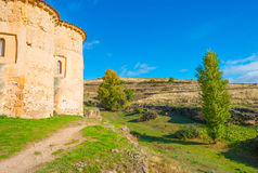 Maltese Cross church in Segovia. In sunlight Royalty Free Stock Photo