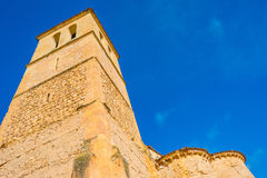 Maltese Cross church in Segovia. In sunlight Royalty Free Stock Photography