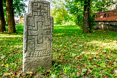 Maltese cross on headstone Stock Photos