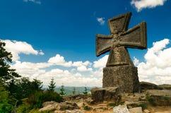 Maltese cross. On the hill Hvezda in Czech mountains Krkonose stock photo