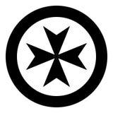 Maltese cross icon black color vector illustration simple image