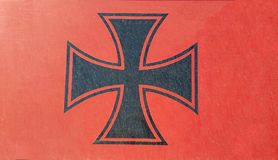 Iron cross on the red background. Illustration Stock Image