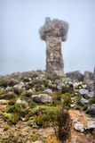 Maltese Cross rock in mist. Shot in Cederberg Mountains, Western Cape, South Africa Royalty Free Stock Image