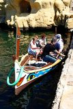 Maltese Dghajsa water taxi, Vittoriosa. Royalty Free Stock Images