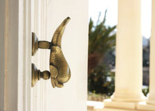 Maltese dorr knocker on palace stock images