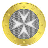 Maltese Euro Coin. 1 Maltese euro coin in  isolated on white background Royalty Free Stock Photos