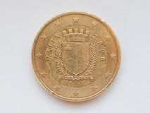 Maltese Euro coin. Maltese 50 Euro cent coin from Malta Currency of the European Union Royalty Free Stock Images