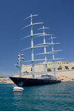 Maltese Falcon. The yacht 'Maltese 'Falcon moored in Valetta harbour, Malta Royalty Free Stock Photos