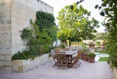 Maltese farmhouse garden Stock Photos