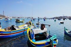 Maltese fishing boats Stock Photo