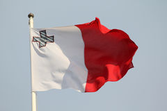 Maltese Flag. Blowing in the wind Royalty Free Stock Image