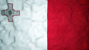 Maltese Flag Seamless Video Loop stock footage