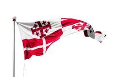 Maltese flag in Valletta Royalty Free Stock Image