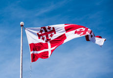 Maltese flag in Valletta Royalty Free Stock Photos