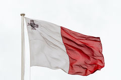 Maltese flag waving in the wind Stock Images