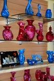 Maltese glassware, Mdina. Traditional Maltese glassware for sale in the old town, Mdina, Malta, Europe Stock Photos