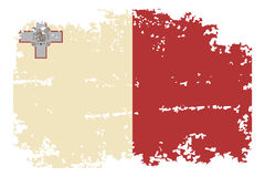 Maltese grunge flag. Vector illustration. Royalty Free Stock Image