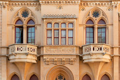 Maltese house. Exquisite facade of old Maltese house in ancient Mdina Royalty Free Stock Images