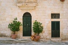 Maltese house in Mdina. Facade of traditional maltese house in Mdina, Malta Royalty Free Stock Photos