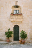 Maltese house in Mdina. Facade of traditional maltese house in Mdina, Malta Royalty Free Stock Photo