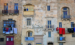 Maltese houses in Valletta Royalty Free Stock Image