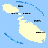 Maltese Islands map Royalty Free Stock Photography