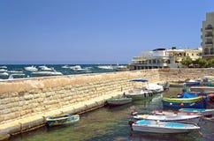 Maltese Kustlijn Stock Foto's