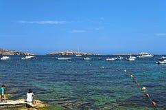 Maltese Kustlijn Stock Afbeelding