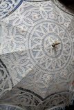 Maltese Lace Parasol. A traditional Maltese Lace Parasol Stock Image