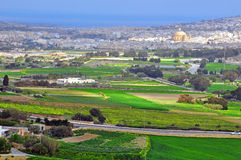 Maltese landscape. View from Mdina mediaval city Stock Image